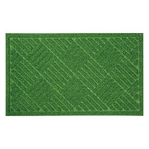 ベストコ 玄関マット 45×75cm グリーン 泥落とし 水洗いOK グラススタイルマット 芝生調 ND-613
