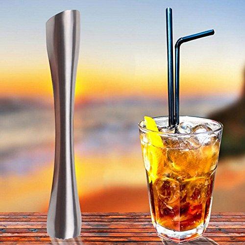 JOKBEN Merrday Edelstahl Cocktail Stößel für Limetten, Muddler Stössel für Mojito, Cocktail, Limonaden und Getränke 20cm Bar Werkzeuge