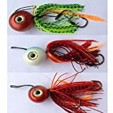 Generico Kit 3 Esche Artificiali Pesca Vertical Jigging Kabura Inchiku Dentice Mare