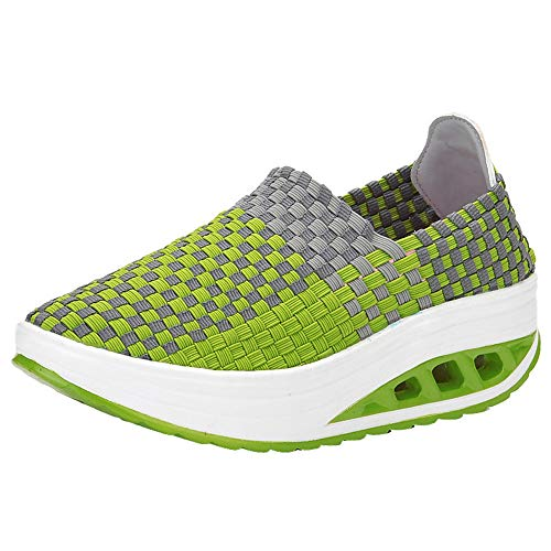 Frauen Damen Laufschuhe Sneaker StraßEnlaufschuhe Sportschuhe Turnschuhe Schuhe Luftkissenschuhe Joggingschuhe Freizeitschuhe 35-41(Grün,38 EU)