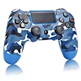 Game Controller for PS4,Wireless Controller for Playstation 4 with Dual Vibration Game Joystick (Navy Blue)