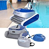 TOPINCN Robotic Pool Cleaner, Automatic Underwater Swimming Pool Cleaner Wireless Remote Control Intelligent Sewage Suction Machine for In-Ground Swimming Pools(US Plug)