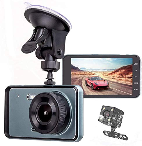LCZB cámara de Tablero, Dash CAM Car 1080 Full HD Dash Camera Recorder, Front 170 ° Y Rear 120 ° Car Camera Mini Dash CAM Speed ​​Camera