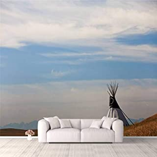 Modern 3D PVC Design Removable Wallpaper for Bedroom Living Room Tipi on the Great Plains Wallpaper Stick and Peel Wall St...