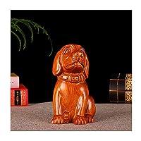 風水の装飾 大胆な彫刻された犬の彫刻創造的な動物の彫像12ゾディアックFeng Shui Home家具は、お祝いイベントのためのラッキーギフトとして使用されています 富と幸運の家の装飾 (Color : B, Size : Large)