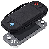 Specially designed to make your new Nintendo Switch Lite Console (2019) even more portable & travel friendly Ultra Slim & Light: REDTRON portable case is very slim and super light. A hand strap allows comfortable holding or carrying. You can also put...