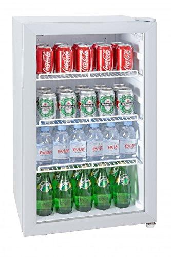 Silva Schneider Homeline G-KS 1595 Gastro-koelkast, barkoelkast, 92 liter, glazen deur, EEK C, temperatuurregeling (7 standen), binnenverlichting
