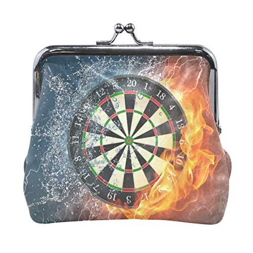 Leder Coin Purse Clutch Pouch Handtasche mit Dart Board Wallet für Studentinnen