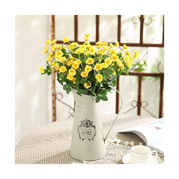 Tifuly 5 Racimos de Flores Silvestres Artificiales, Naturaleza Fake Silk Silk Mini Ramos de Rosas para la Oficina del…