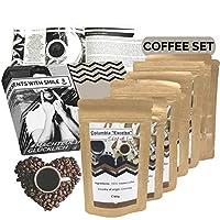 viaggio nel mondo del caffè confezione da 360 g come confezione campione di caffè pregiato da tutto il mondo in confezione regalo come regalo per gli amanti del caffè