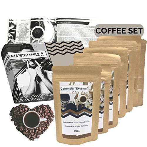 [ Boxiland ] Kaffee Weltreise 360g Box als Probierpaket erlesener Kaffee aus Aller Welt im Geschenkkarton zum Verschenken für Kaffeeliebhaber