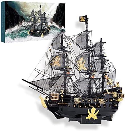 OYJFAX Popular overseas Black Pearl Pirate Ship Building Puzzle overseas Kit Asse Metal 3D
