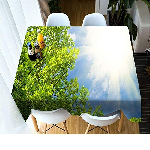 WSJIABIN Mantel Poliéster Impresión Digital D Picnic Mantel a Prueba de Polvo Mantel Rectangular Impermeable Adecuado para Interiores y Exteriores 90x180cm
