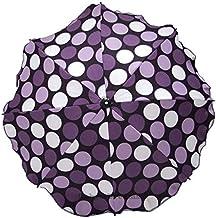 Sombrilla universal para cochecito y silla de paseo deportiva, con soporte universal, protección UV 50+ Lila Erbsen
