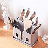 Universal-Messerblock - Space Saver Messer Lagerung - Einfache Reinigung-Unique Slot-Design