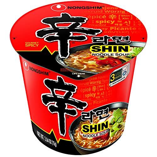 Nongshim Shin Cup Noodle Soup, Gourmet Spicy, 2.64...