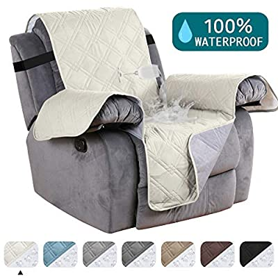 Turquoize Waterproof Couch Cover for Recliner Chair Cover for Leather Furniture Protector Cover Non Slip Backing Furniture Cover Protect from Pets