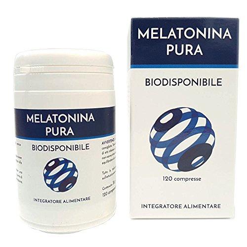 Melatonina Pura Biodisponibile Naturpharma 120 compresse | integratore naturale che riduce il tempo richiesto per prendere sonno | Senza Glutine Senza Lattosio Vegan Approved