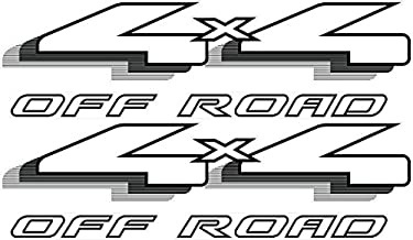 Vinylmark LLC 4x4 Off Road Decals (Black) - 1999 2000 2001 2002 2003 Fits Ford Ranger Truck Bed