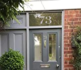 Traditional House Door Number Fanlight Victorian Sticker Frosted Etched Vinyl PG27