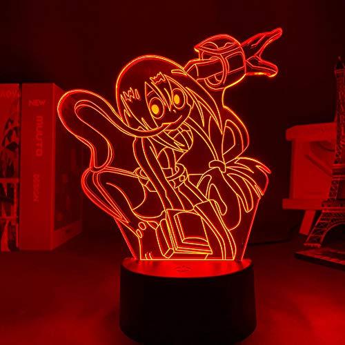 3D noche luz 3D noche anime mi héroe Academia Tsuyu Asui lámpara para dormitorio decoración regalo de cumpleaños ZGLQ
