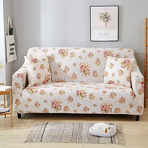 WXQY Fundas de Flores Funda de sofá Funda de sofá de Sala de Estar Funda de sofá elástica de algodón Puro Funda de protección de Muebles A18 1 Plaza
