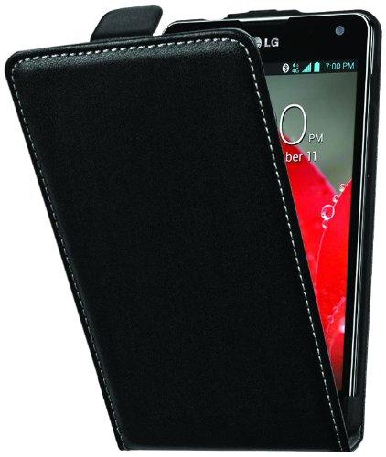 Muvit MUSLI0208 - Funda slim S + protector de pantalla para LG Optimus G E975, negro