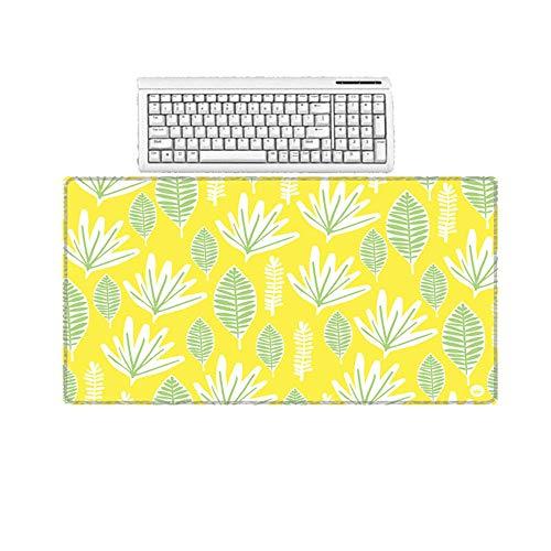 HonGHUAHUI geel blad behang rubber anti-slip Home Office Desktop Pc toetsenbord grote muismat 300X600X2MM A010.