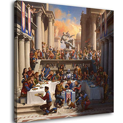 Everybody Logic Album Cover Rapper Hip Hop Canvas Art Poster and Wall Art Picture Print Modern Family Bedroom Decor Posters