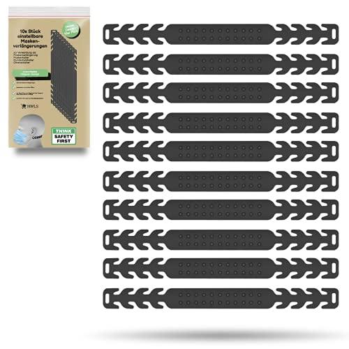 [NEUES DESIGN] 10x Stück einstellbare Maskenverlängerung Maskenhalter Mundschutzhalter Ohrenschoner | für Kinder und Erwachsene | angenehmes und weiches Silikon | rutschfestes Noppen-Design |
