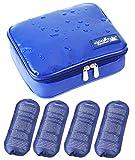 ONEGenug Wasserdicht Insulin Kühltasche Diabetiker Tasche Thermotasche + 4 Kühlakkus (Size L)
