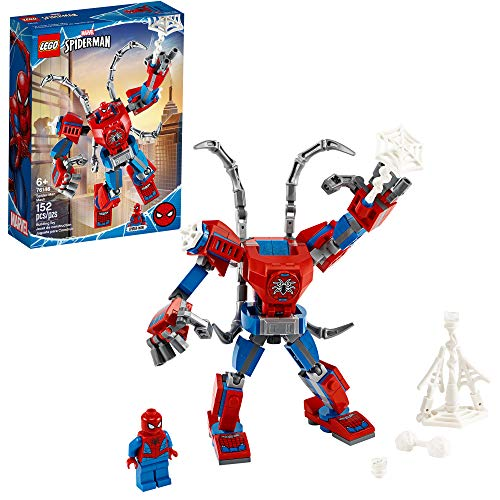 LEGO Marvel Spider-Man: Spider-Man Mech 76146 Kids? Superhero Building Toy, Playset with Mech and Minifigure, New 2020 (152 Pieces)