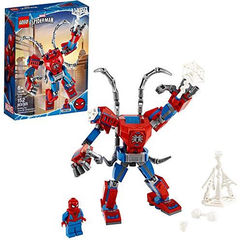 LEGO - Marvel Spider-Man: Spider-Man Mech 76146 - Juguete de construcción, superhéroe, armadura robótica y minifigura, para niños (152 unidades)