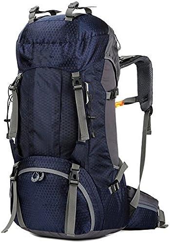 CJDDPO Hot Vente Sac à Dos en Plein Air 60L Hommes Et Femmes équitation Sports Sac De Camping Imperméable à L'alpinisme Randonnée Sac à Dos Molle S Sacs à Dos d'alpinisme Sac,bleu