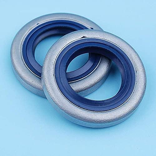 HaoYueDa 2 x Juego de Sellos de Aceite de cigüeñal compatibles con motosierras Husqvarna 51 55254257262357359 JONSERED 2041 2045 2050 2159 GR 41 EPA
