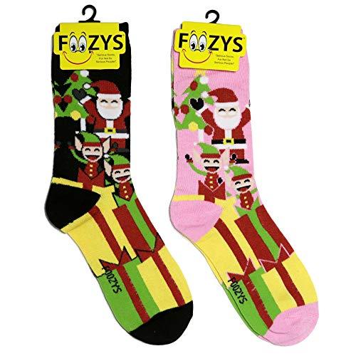 Foozys damen Mannschaftssocken | bunte feiertags-weihnachts neuheit socken santa & elves