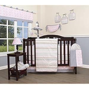 GEENNY 13 Piece Boutique Baby Nursery Crib Bedding Set, Bohemia Geometry, Multi-Colors, Crib