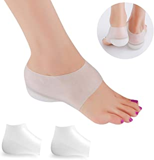 Vrlinking Invisible Height Increase Insole, Wearable Heel Cushion Inserts Shoe Soft Silicone Heel Lift Insole Leg Lengthen for Men and Women