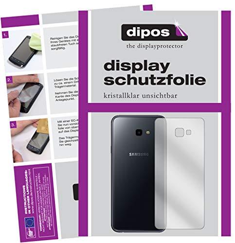 dipos I 2X Pellicola Protettiva Compatibile con Samsung Galaxy J4 Plus (2018) Posteriore Pellicola di Protezione Cristallo