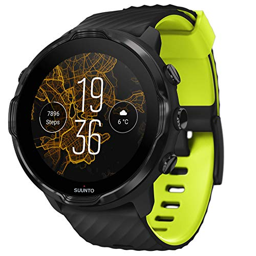 Suunto 7, GPS Sport Smartwatch with Wear OS by Google - Black/Lime