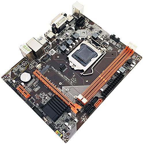 Greatangle-UK B75 para Placa Base Conjunto de gráficos Integrados para Intel Core I7 / i5 / i3 / Pentium/Celeron Desktop USB 3.0 VGA DVI HDMI Compatible Negro