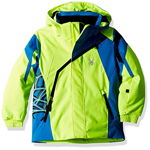 Spyder Kids & Baby Jungen Mini Challenger Skijacke, Kinder & Babies, Skijacken, 183506, Bryte Yellow/French Blue/Black, 4
