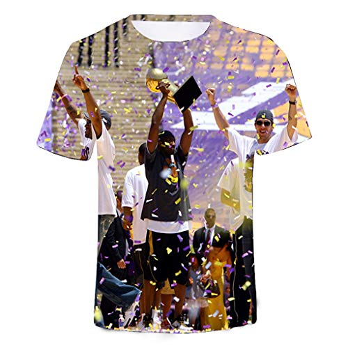 JNTM Hombre Camiseta Kobe Bryant Fans T-Shirt Impreso Cuello Redondo Casual Camisas Cómodas XS-4XL