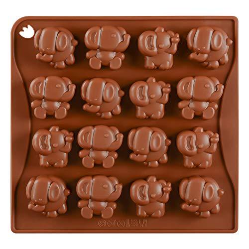 Scelet Éléphant Moule en Silicone Gâteau Décoration 16 Cavités en Forme Déléphant Moules à Chocolat
