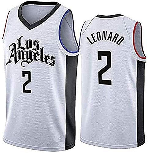 Mens Basketball 2# Leonard Jersey Kawhi Clippers Icon Edition Swingman Summer Shirt Sportswear Tank Top,White City,Large