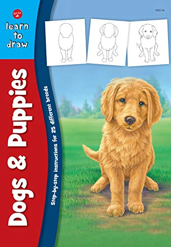 Dogs & Puppies: Step-by-step instructions for 25 different dog breeds (Learn to Draw)