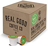 Real Good Coffee Co Certified Organic Dark Roast Recyclable Coffee Pods, K-Cup Compatible including Keurig 2.0 Brewers, 36 Count