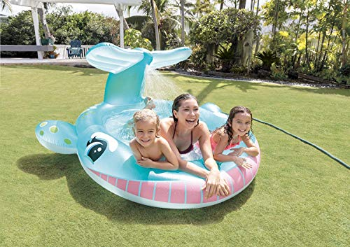 Spray Pool aufblasbar Wal Planschbecken Kinderpool Babypool Swimmingpool Schwimmbecken Erlebnispool Spielpool für Kinder Baby Garten Terrasse mit Sprüh -und Regen-funktion