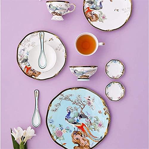 Juego de Platos, 11 unids - Conjuntos de vajilla para 2, hueso China Estilo chino Plato de estilo y conjuntos de cuencos Conjunto de platos de cena de tazones Taza Vajilla, Cocina Completa 2 Personas,