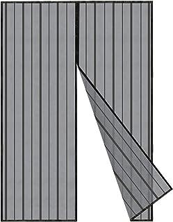 Sekey Magnetyczna moskitiera na drzwi zasłona na drewno, żelazo, drzwi aluminiowe i balkon. Łatwa instalacja (140 x 240 c...